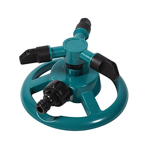 Paquete de 2 aspersores de agua, automático 360 Aspersor de jardín ajustable...