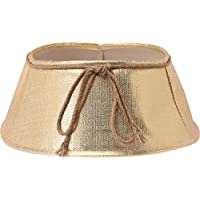 Excellent Houseware Textile 40cm Christmas Tree Stand Skirt Cover (Gold)
