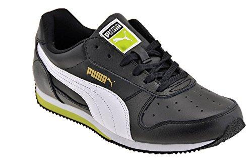 Puma Fieldsprint L Jr 354596 Unisex-Kinder Sneaker SCHWARZ - NOIR (BLACK/WHITE/LIME PUNCH)