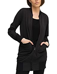 trueprodigy Casual Mujer marca Sudadera Zip basico ropa retro vintage rock vestir moda cuello redondo manga larga slim fit designer cool urban fashion jacket chaqueta sueter color negro