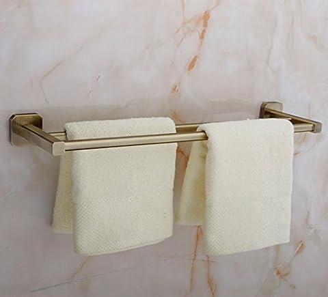 CU tous les double Porte-serviettes Serviettes 2Levier de bain Cintre, 60cm