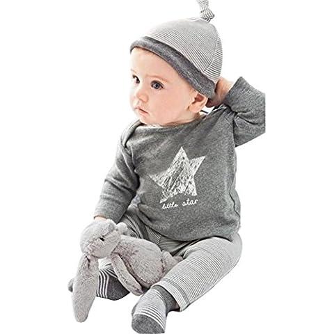 Malloom® 2015 lindo cabrito Niño Navidad Ropa bebé Juegos algodón 3 piezas Set:Sombreros + camiseta + pantalones