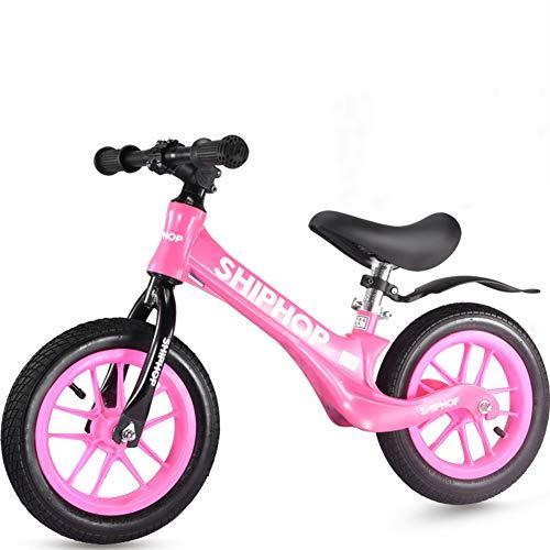 Hxx Kleinkinder Rutschauto, Magnesiumlegierung Kein Tretrad Ultraleicht Lerne Laufen Praxis Fahren Fahrrad Für 2~6 Jahre Kinderspielzeug Fahrrad Geschenk,Rosa