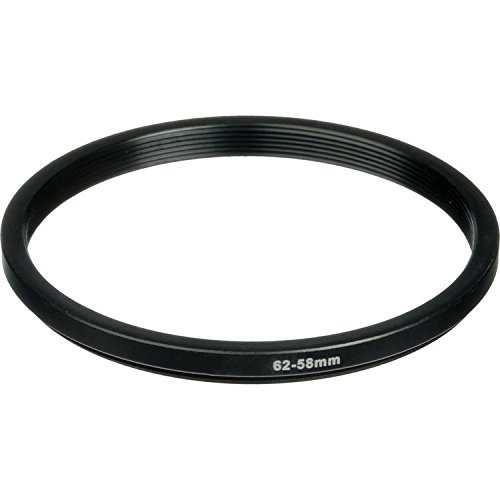 Phot-R® 62-58mm Metal Step-Down Ring Adapter for Camera Filters and Lenses -