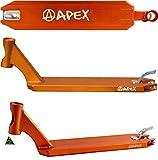 Apex Scooters Stunt-Scooter pro Deck + Fantic26 Sticker (Orange (49cm))