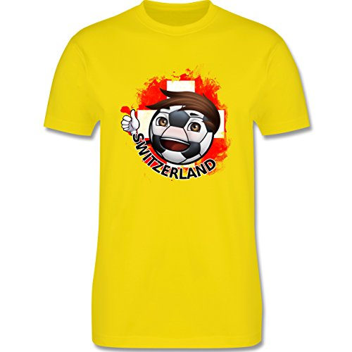 EM 2016 - Frankreich - Fußballjunge Schweiz - Herren Premium T-Shirt Lemon Gelb