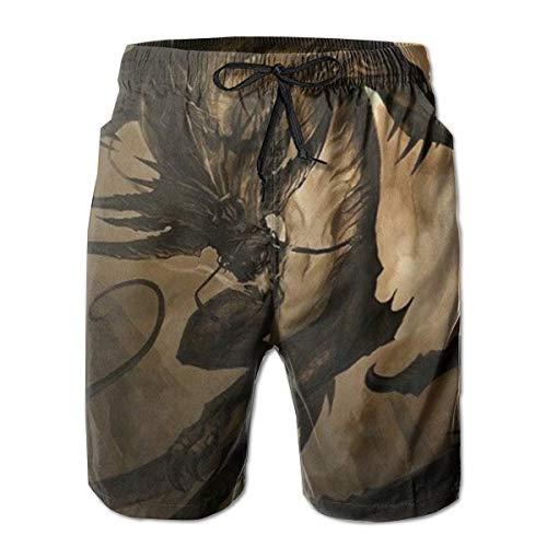 Cool Fierce Evil Dragon King 3 Classic-Fit Badehose Big & Tall Half Pants für Jungen Herren, Lose Badeanzüge M