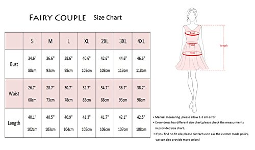 FAIRY COUPLE 50s Retro Blumen Cocktail Schwingen Party Kleid mit Bogen DRT017(2XL,Rote weiße Punkte) - 2