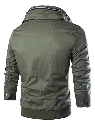 Jeansian Hommes Manteau Fashion Trend Manches Longues Casual Jacket 9335 ArmyGreen