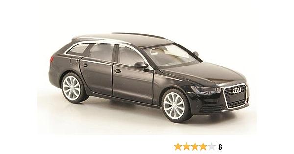 Audi A6 Avant Schwarz Modellauto Fertigmodell Herpa 1 87 Spielzeug