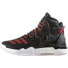 Adidas D Rose Menace 2, Zapatillas para Hombre, Negro (Negbas/Escarl/Negbas), 48 EU