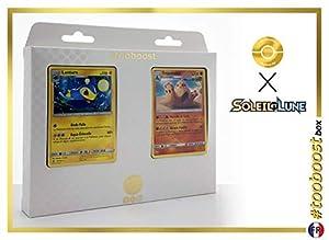 Lanturn 50/149 Y Trépassable (Palossand) 75/149 - #tooboost X Soleil & Lune 1 - Box de 10 Cartas Pokémon Francés + 1 Goodie Pokémon