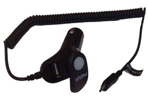 KFZ-LADEKABEL AUTOLADEKABEL Micro-USB inkl. zusätzlicher USB-Buchse passend für ACER Liquid Z110 Duo etc.