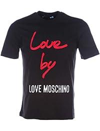 187cb8e378906f Love Moschino Love by Cotton-Jersey T-Shirt Black