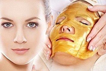3 Pack - Gold Collagen Face Mask - Anti Aging, Wrinkles, Moisturising, Blemishes, Firming, Toning, Dark Circles, Smoothing Skin, Natural Lift