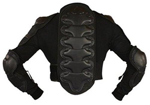 Protectwear PJ2-L Protektorenjacke 2 für Motorrad / Motocross, Downhill/BMX, Snowboard und weitere Sportarten, Größe : L, Schwarz
