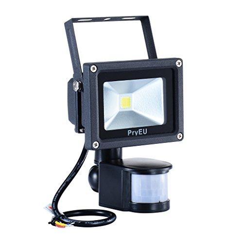 PryEU LED Floodlight Outdoor Security Lights 10W With Motion Pir Sensor  Daylight 800lm Super Bright Waterproof: Amazon.co.uk: DIY U0026 Tools