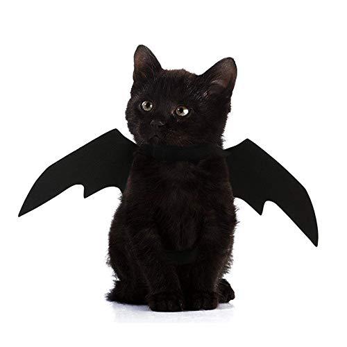 Upxiang Halloween Pet Black Fledermaus Flügel Cosplay - Welpen Vampir Kostüm - Tier Haustier Hund Katze Fledermaus Wings Outfit
