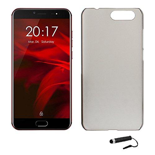 Tasche für Ulefone Gemini Pro Hülle, Ycloud Handy Backcover Kunststoff-Hard Shell Case Handyhülle mit stoßfeste Schutzhülle Smartphone Grau