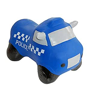 Happy Hopperz Inflatable Police Car - Blue