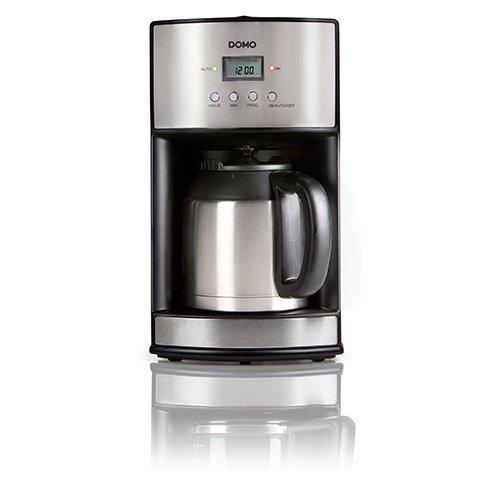 Domo DO474K Kaffeeautomat Edelstahl mit Timer und Isolierkanne
