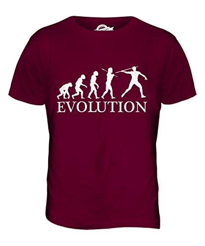 CandyMix Speer Evolution Des Menschen Herren T Shirt Burgunderrot