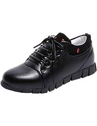 Zapatos deportes con correa breathable para mujer,Sonnena Zapatos de cuero al aire libre para mujer Zapatos cómodos cordones Casuals Correr calzado deportivo