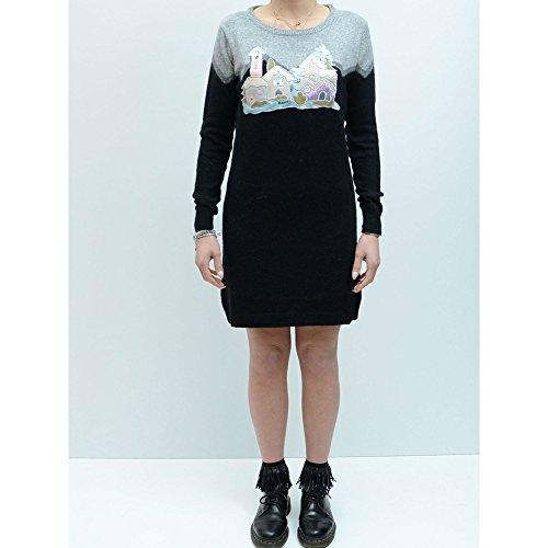 Abito vestitino tubino sexy casual Donna Braccialini maglione stampa vestito, S S