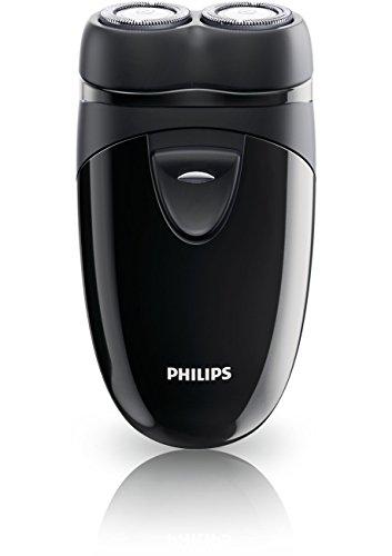Philips Rasoir Électrique PQ208/17 - Rasoir (Batterie, AA, rotation, noir, HQ4 +)