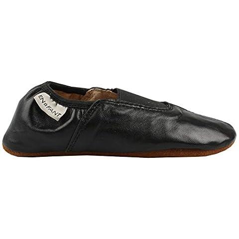 EN-FANT mixte chaussons de gymnastique ou de danse en cuir noir, taille 38, 815085U-00