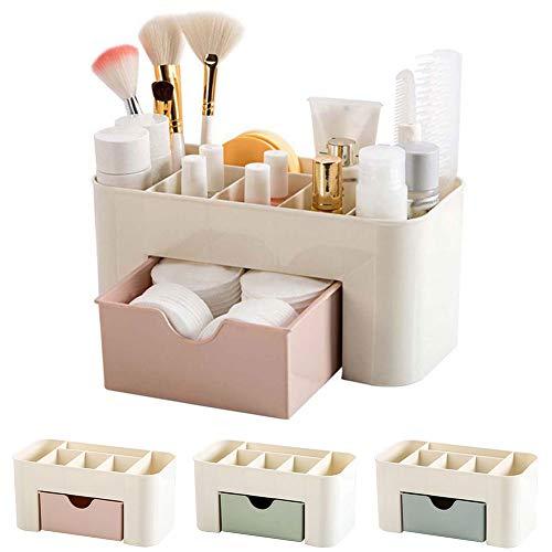 Duk3ichton Aufbewahrungsbox Desktop Kosmetik Lippenstift Pinsel Aufbewahrungsbox Schublade Make-up Halter Veranstalter Rosa