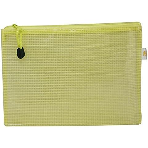 Generic in PVC A5documento sacchetti con cerniera 21,6x 16cm colore giallo, confezione da 5