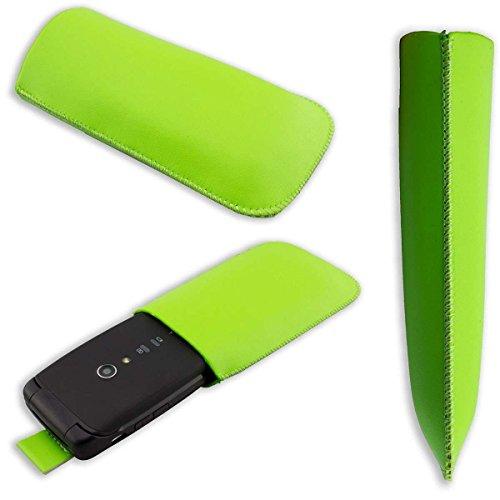 caseroxx Slide-Etui Handy-Tasche für Doro Primo 405 / Primo 406 aus Kunstleder, Handy-Hülle in grün