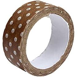 Bricolaje Autoadhesivo diseño de lunares de carrocero adhesivo Scrapbook manualidades DIY cinta decorativa talla única marrón