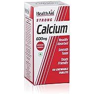 HealthAid Calcium 600mg - Chewable - 60 Vegetarian Tablets