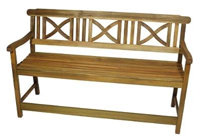 Bank / Seniorenbank ALBORG mit extra hohem Sitz für leichtes Aufstehen aus robustem Akazienholz, geölt