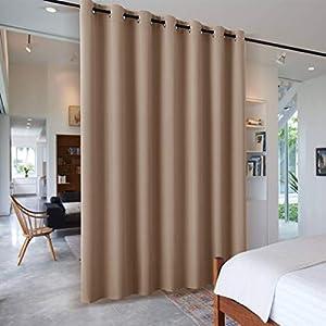 PONY DANCE Raumtrenner Vorhang Sichtschutz – Trennwand Raumteiler für Hotel & Klinik & Umkleideraum Schiebegardinen mit…