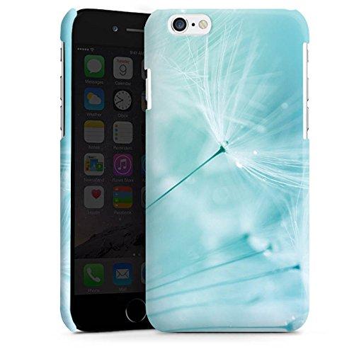 Apple iPhone 4 Housse Étui Silicone Coque Protection Pissenlit Bleu Bleu Cas Premium brillant