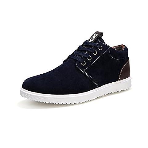 Chaussures plates de loisirs tendance pour homme Tennis respirantes 4 saisons - bleu - noir foncé,