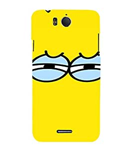 PrintVisa Cartoon Eyes Emotion 3D Hard Polycarbonate Designer Back Case Cover for Infocus M530