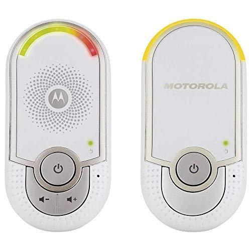 Motorola MBP 8 - Babyphone audio DECT avec prise murale plug 'n go - éco mode et veilleuse - couleur blanc