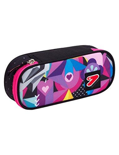 Portapenne scuola seven the double - black rose - multicolore - porta penne