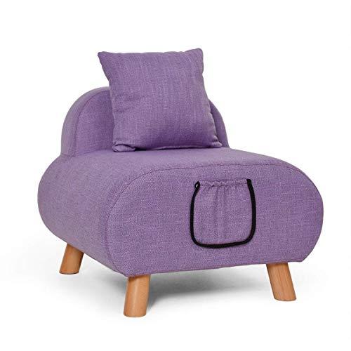Ibuprofen Hocker Stuhl Sitz Schuhbank Kleines Sofa aus Stoff Moderne Einfachheit Lounge-Sessel Niedliche Kinder Sofa Schlafzimmer Sofa Stuhl Waschbar Lagerung Design mit Kissen, b