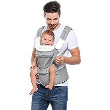 GAGAKU Portabebés con Asiento de Cadera 8 en 1 Ergonómica Mochila Porta Bebé para Recién Nacido