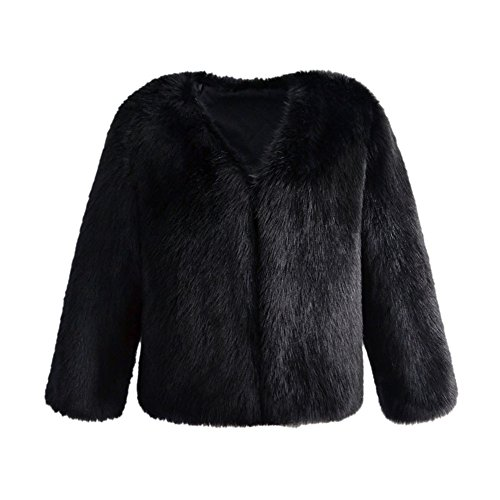 VLUNT Mujer Abrigo de Pelo Chaqueta Invierno Abrigo de Piel Sintética de  Fox Chaqueta Fur Coa 1f9413bea3c