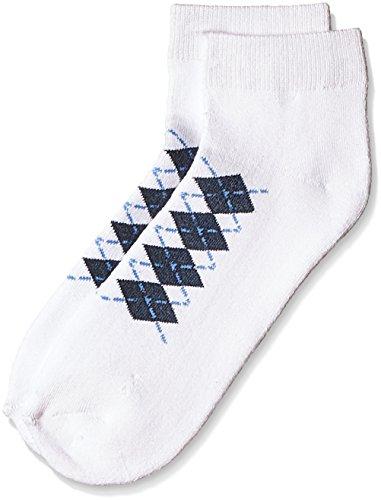 Lakomfort Men's socks (LK-11023_White Checks)  available at amazon for Rs.76