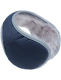 Iuway Unisex Plush Lined Foldable Sport Winter Warm Earmuffs Waterproof  (Navy) e8b51bbba497