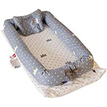 Umiwe Nido Cuna Suave para Bebe 100% algodón orgánico Baby Nest Reductor Protector portátil de
