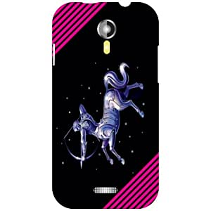 Via flowers Back Cover For Micromax A117 Way Multi Color
