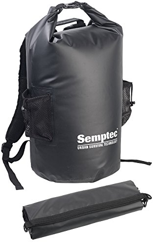 dry bag rucksack Semptec Urban Survival Technology Wasserdichter Packsack: Wasserdichter Trekking-Rucksack aus LKW-Plane, 40 Liter, schwarz, IPX6 (Gewebeplane-Rucksack)